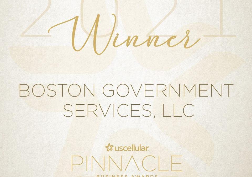 BGS Awarded 2021 Pinnacle Business Award